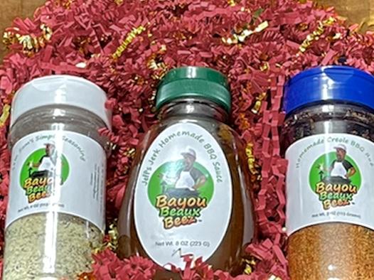 Bayou Beaux Beez Sauce and Seasonings Gift Box